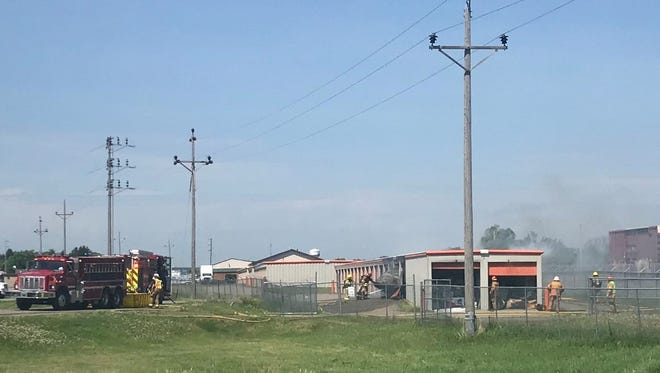 Emergency crews responded to a structure fire Tuesday at a self-storage facility in St. Joseph.
