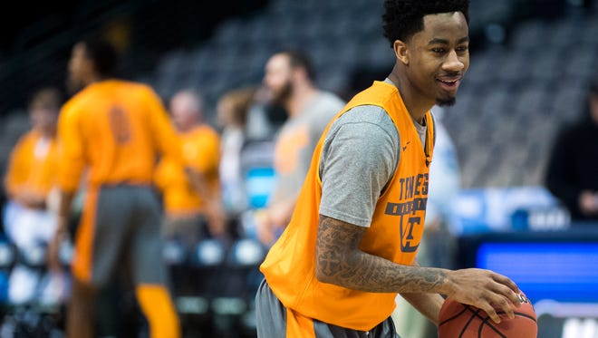 Tennessee guard Jordan Bowden (23) averaged 9.1 points and 3.6 rebounds a game last season.