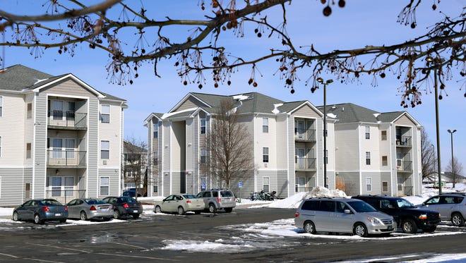 Housing in The Village, part of the huge Chandler Crossings development,.