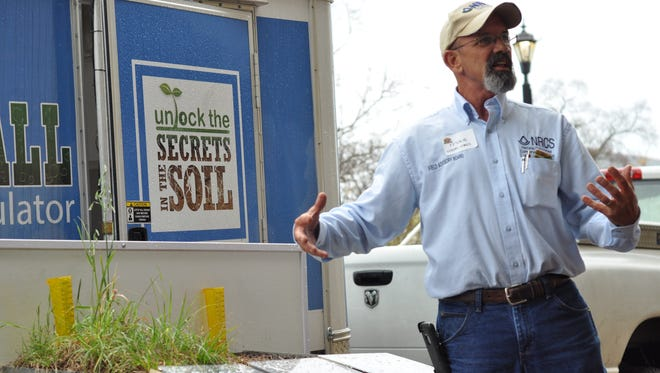 Mike Lindsey, state soil scientist for the Natural Resources Conservation Service, gives a presentation Friday morning on How to Build Healthy Soil at the fourth annual Foodapalooza.