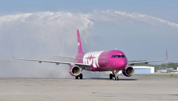 WOW Air's inaugural flight to Baltimore/Washington