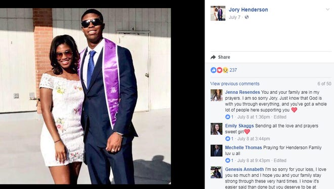 Siblings Jory and Bakari Henderson. Bakari was killed in a bar fight in Greece Friday.