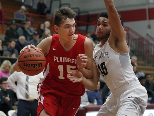 Plainfield's Gavin Bizeau (15) will play in the Atlantic