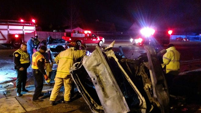 A staffer with the Shelby County Sheriff's Office took this photo of the aftermath of a fatal crash that took place on East Shelby Drive on the evening of January 5, 2018.