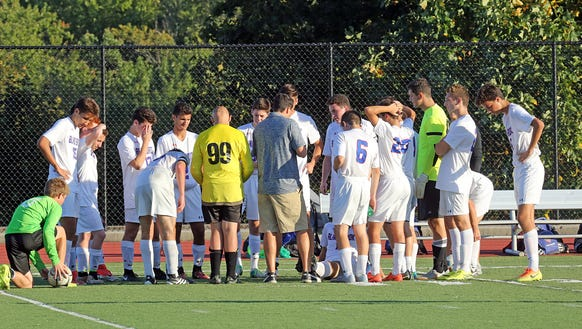 Bronxville plays Blind Brook during soccer game at