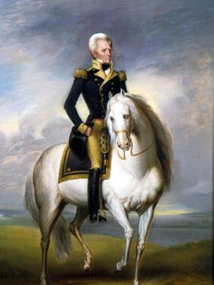A portrait of Andrew Jackson.