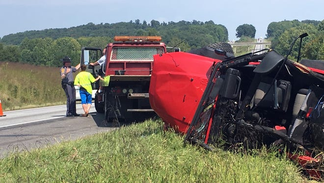 A man was killed Tuesday morning on I-81 in a single-vehicle crash.