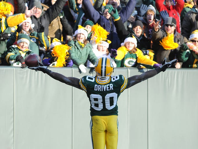 Green Bay Packers wide receiver Donald Driver turns