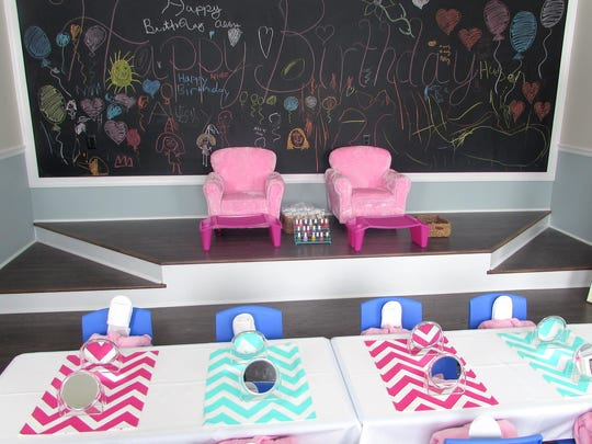 This room at Namasté event, spa and wellness center is designed for young girls.