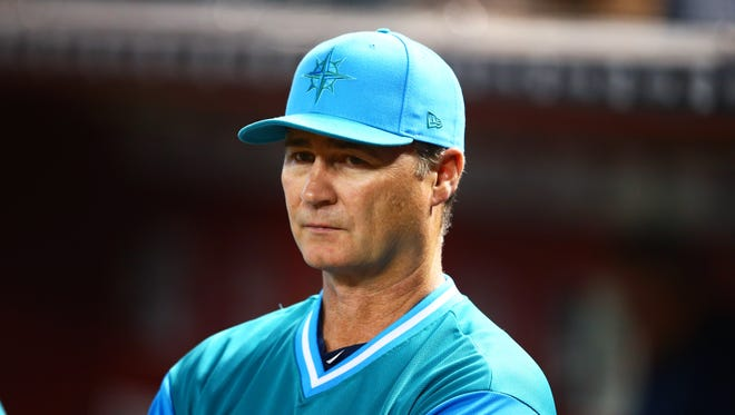"""Mariners manager Scott Servais: """"With how our season has gone, the frustration mounts. Along the way, there are bumps in the road."""""""