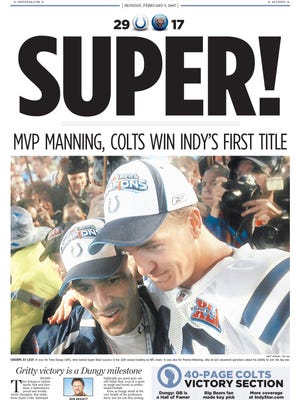Feb. 5 2007 Indianapolis Star front page