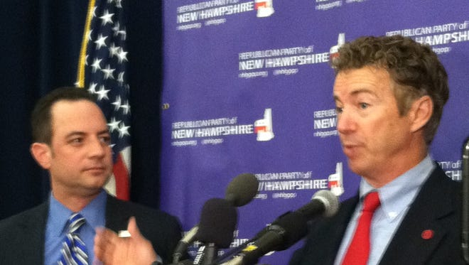 Sen. Rand Paul in New Hampshire in 2013.