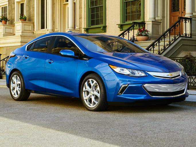 The new 2016 Chevrolet Volt plug-in electric car with