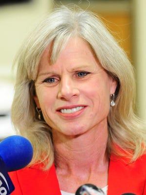 Democrat gubernatorial candidate Mary Burke visits BelGioioso Cheese.