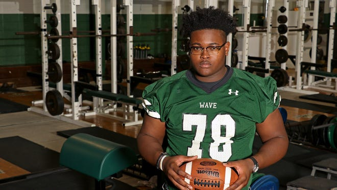 West Point's Scott Lashley has a rare combination of size, speed and strength which has made him one of the most sought after offensive tackle prospects in the country.