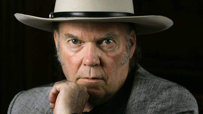 Neil Young is photographed in Nashville on Aug. 21, 2005.