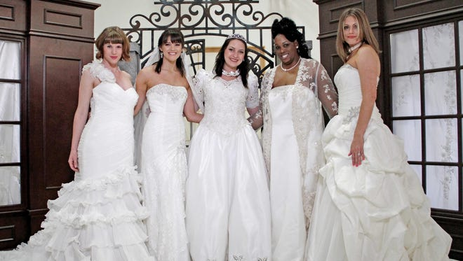 Models gathered for a NewsChanne5 Talk of the Town episode for Goodwill Wedding Gala.