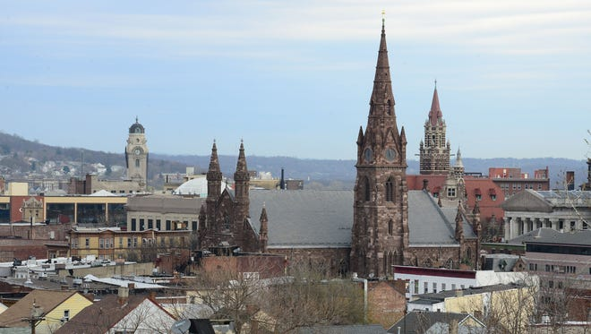 Construction of the Cathedral of St. John the Baptist in Paterson, N.J., began in 1865, months after the end of the Civil War.