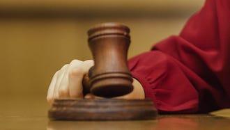 Judge with gavel
