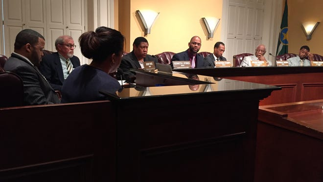 Special meeting of the Jackson City Council held Tuesday afternoon on a emergency declaration regarding the high levels of lead found in Jackson's tap water.
