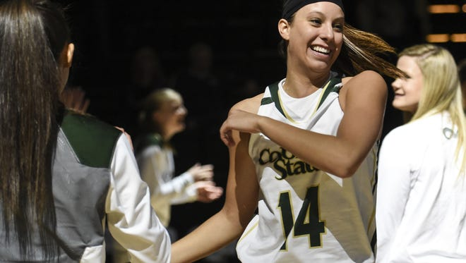 Jamie Patrick, shown in a file photo, had a game-high 20 points as the CSU women's basketball team moved to 10-1 win a win over the University of Denver on Sunday.