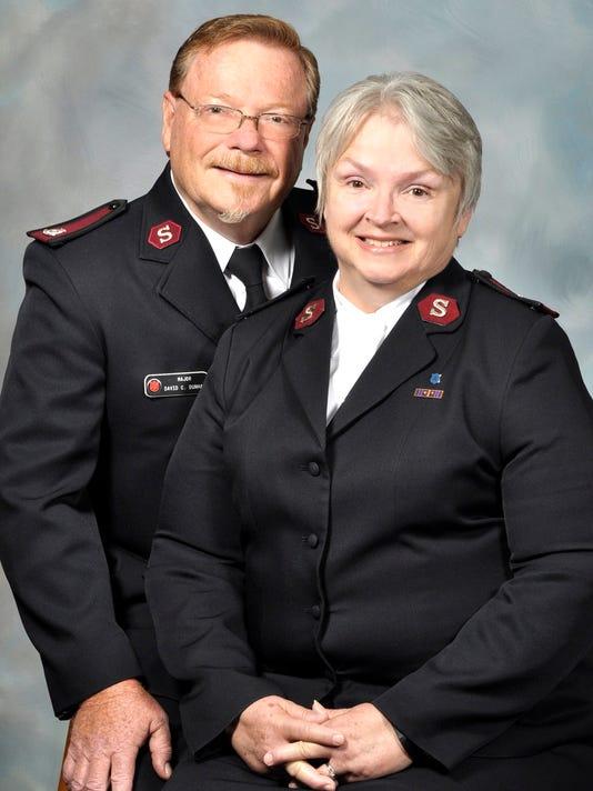 Majors David and Tina Dunham