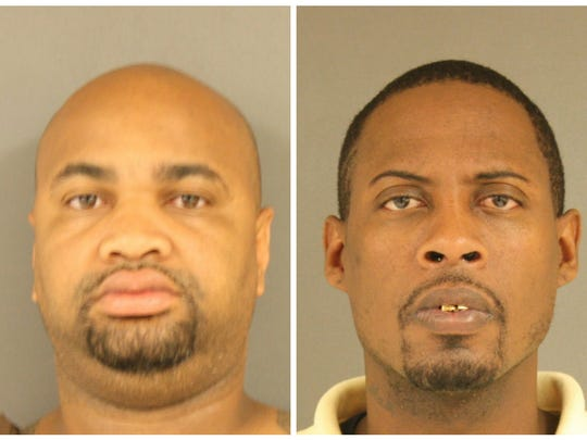 Antwaine Buchanan, left, and Mario Holland were arrested