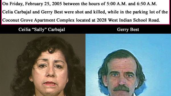 Celia Carbajal and Gerry Best were shot dead in Phoenix on Feb. 25, 2005.