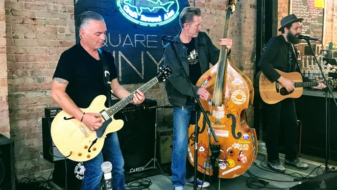 "The Shelby County Sinners perform during the March 15 episode of ""Dogfish Head Brewery presents IndyStar Sessions at Square Cat Vinyl."""