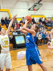 Wynford's Olivia Grove attempts to score Wednesday evening.