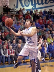 Wynford's Alex Crall goes for a basket early in the