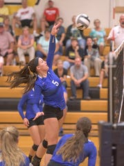 Wynford's Macey Zinser attempts to score during their game against Col. Crawford Tuesday evening.
