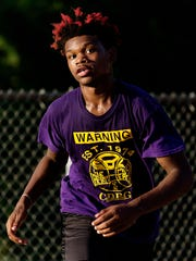 Da'Breion Ferguson Toombs during a game at Meaux Park near Lincoln Park in Milwaukee.
