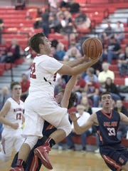 Bucyrus senior Gavin Lewis attempts to score.