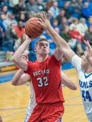 Bucyrus' Kyle Hamm attempts a shot.