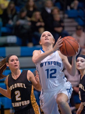 Wynford's Ellie Richmond drives to the basket against Colonel Crawford earlier this season.