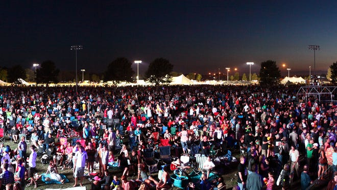 An estimated total crowd of 125,000 showed for JazzFest in 2012 with rocker Joe Walsh as headliner.