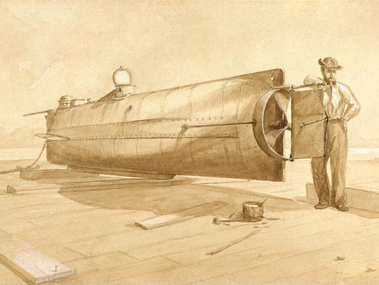 """CSS Hunley,"" by R.G. Skerrett"