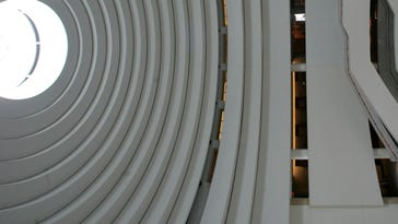 A view of the rotunda from above the main entrance at the Museum of the American Indian in Washington, D.C.