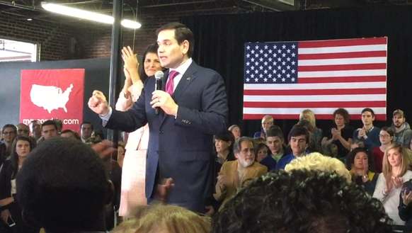 Marco Rubio speaks at a South Carolina campaign event