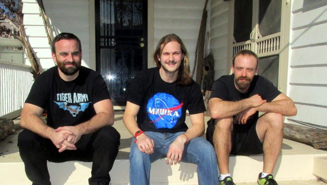 Native Blood: from left, Ross Turner, Wesley Williams and David White.