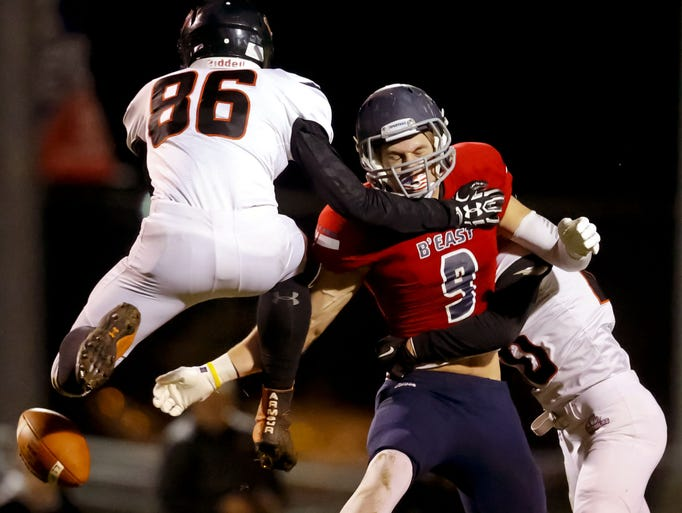 A pass intended for Nick Kreul falls incomplete as