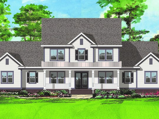 Two-story home located in Centerville Conservation Community.