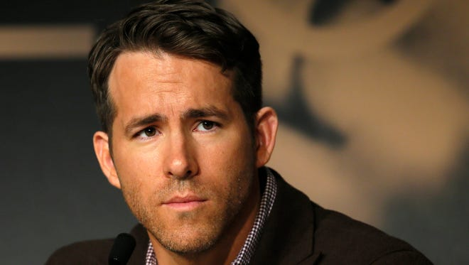 Ryan Reynolds attends a press conference for 'The Captive' at the 67th international film festival in Cannes on May 16.