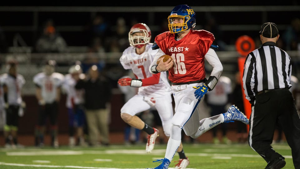 Section 4 football all-stars faced off in an East vs.