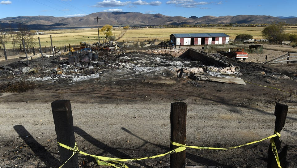 The aftermath of the Little Valley Fire is seen in