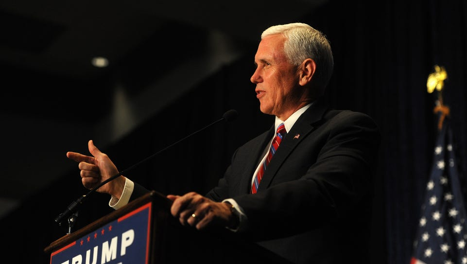 Republican candidate for Vice President Mike Pence