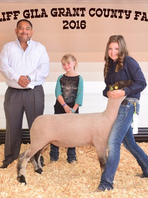 Emily McDonald placed third with her blackface Class 7 lamb at the Cliff Gila Grant County Fair. LT Cattle Company and Sisbarro Chevrolet purchased the animal.
