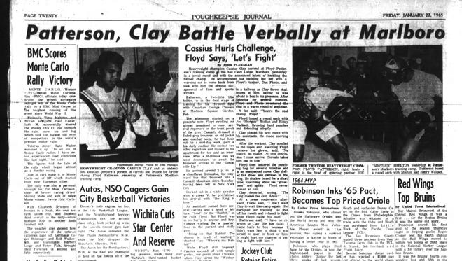 The Jan. 22, 1965 edition of the Poughkeepsie Journal.