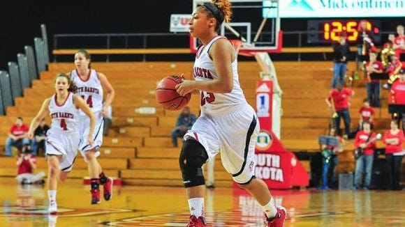 Raeshel Contreras leads the Coyotes in scoring, averaging more than 16 points a game.